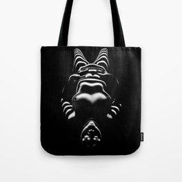 8650-SLG Sensual Female Nude Woman Wrapped with Bands of Light and Shadow Tote Bag