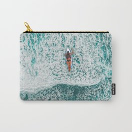 Girl Surfing Carry-All Pouch