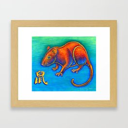 Chinese Zodiac Year of the Rat Framed Art Print