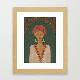 Kaftan Queen Framed Art Print