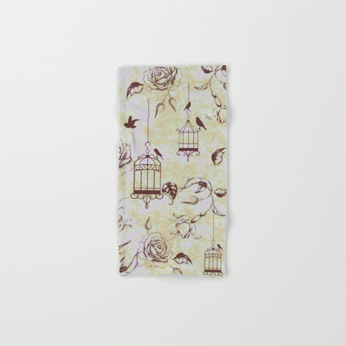 Roses & cages Hand & Bath Towel