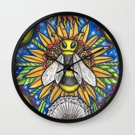 Lady Bee Wall Clock