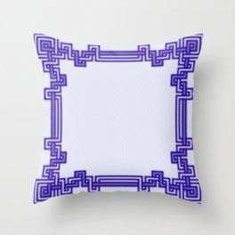Twisted Angular Knots Throw Pillow
