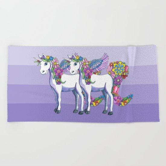 Unicorn Twins Beach Towel