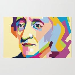 John Locke in Pop Art Portrait Rug