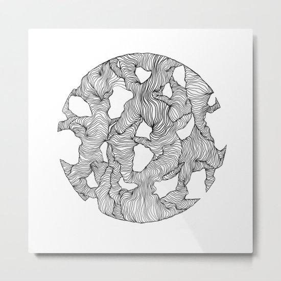 Reticulated Metal Print