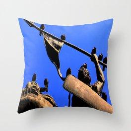Mane-iacally Sedate Throw Pillow