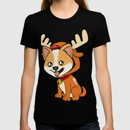 Corgi Christmas Dog T-shirt Design On Xmas Eve or Day Paw Paws Pet Breed Dogs Christmas Tree T-shirt