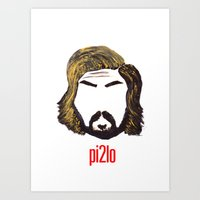 pirlo Art Prints featuring Pirlo 21 by wearwolves