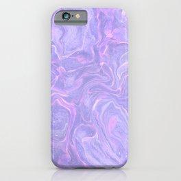 Pastel neon marbled design iPhone Case