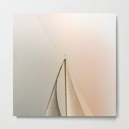 Minimal Sail Metal Print