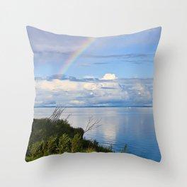 Rainbow Lake Throw Pillow