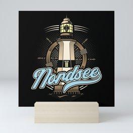 Nordsee Leuchtturm Küste Norddeutschland Ostfriese Mini Art Print