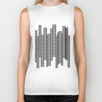skyline Biker Tanks featuring Skyline by The New Minimalist