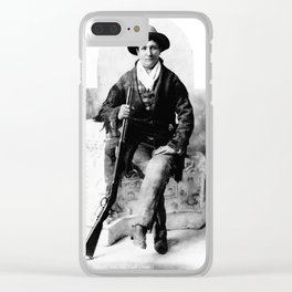 Calamity Jane, Seated with Rifle Clear iPhone Case