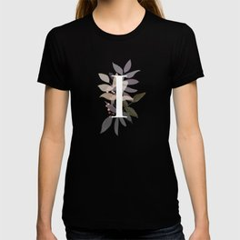 Rustic Initial I - Fall Leaves and Branches T-shirt