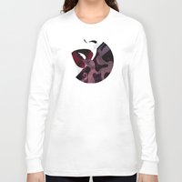 noir Long Sleeve T-shirts featuring Velvet Noir by Stevyn Llewellyn