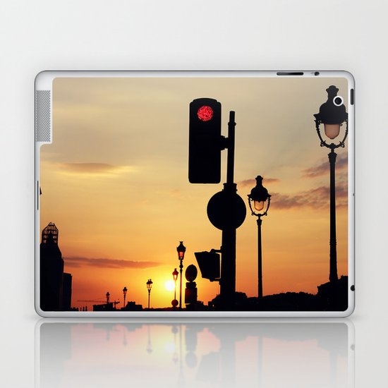Stop and look at the sunset Laptop & iPad Skin