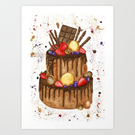 Chocolate sensation Art Print