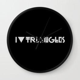 I Heart Triangles Wall Clock