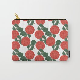 Red Dahlia Carry-All Pouch