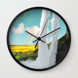 Iceland: Seljalandsfoss Waterfall Wall Clock