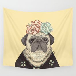 Frida Pug Kahlo Wall Tapestry