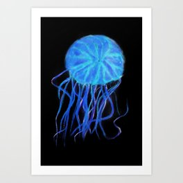 Quiet Blue Jelly Art Print