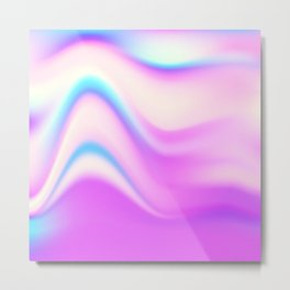 Hologram bright colorful print Metal Print