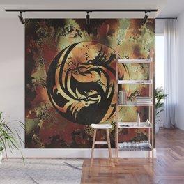 Yin and Yang Dragons Artwork Wall Mural