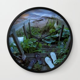 Stairway to Summer Wall Clock