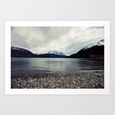 Tutshi Lake Art Print