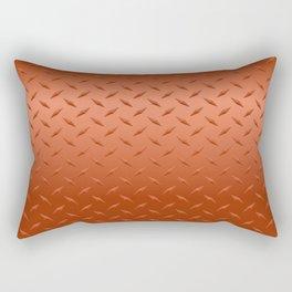 Copper Diamond Plate Rectangular Pillow