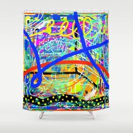 Sasso Abstract Shower Curtain