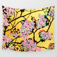 blossom Wall Tapestries featuring Blossom by marlene holdsworth