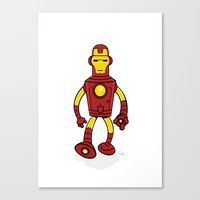 bender Canvas Prints featuring Iron Bender by Andy Whittingham