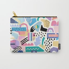 Geometric 80s Inspired Pattern Carry-All Pouch