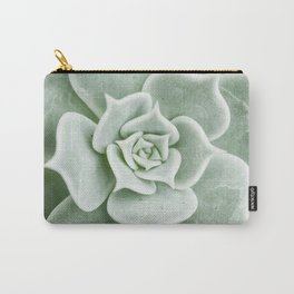 Succulent lover close up view Carry-All Pouch