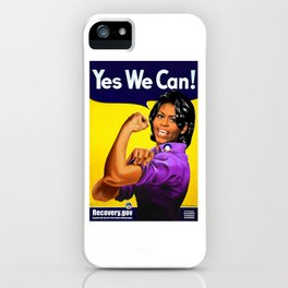 michelle obama rosie the riveter iPhone Case