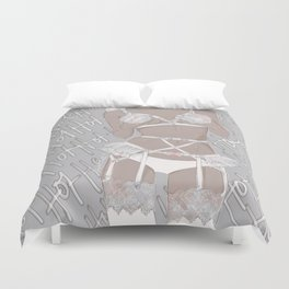 White Hot  Duvet Cover