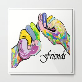 ASL Friends Metal Print