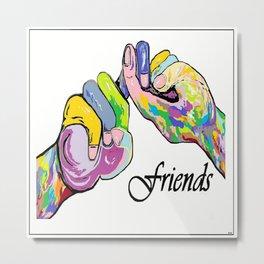 ASL Friends Metal Print