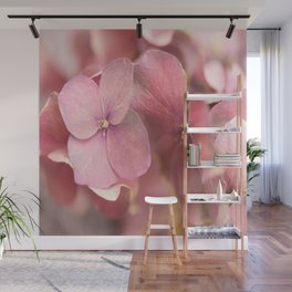 Hortensia Flower Pink Hydrangea #decor #society6 Wall Mural