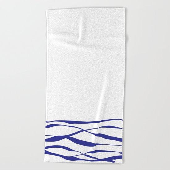 A Bottomless Sea No. 3 Blue Beach Towel