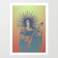 psych Art Prints featuring V - Psych by ochre7