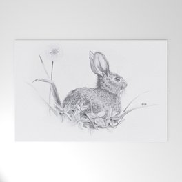 Bunny in the Field Welcome Mat