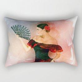Flamenco Dancer Rectangular Pillow