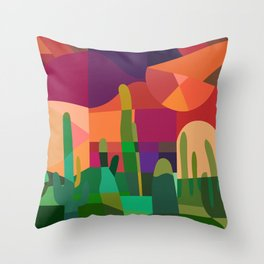 Botanical Wonderland - Cactus Garden Bybrije Throw Pillow
