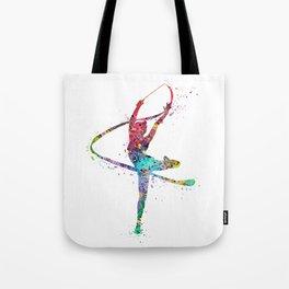 Rhythmic Gymnastics Print Sports Print Watercolor Print Tote Bag