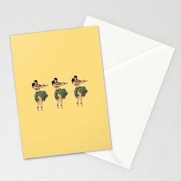 Hula Girls Hula Girl Dancing the Hula - Sand Stationery Cards